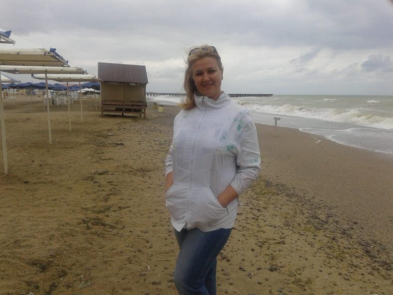 Наталья на море