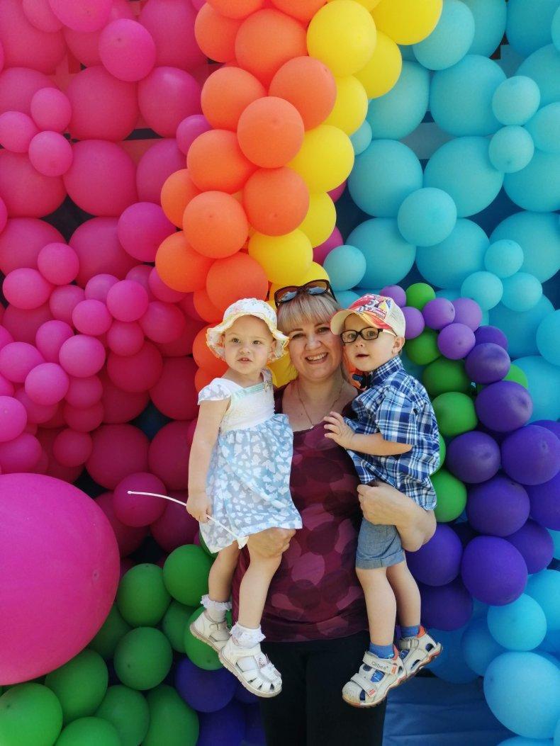 Наталья с детьми