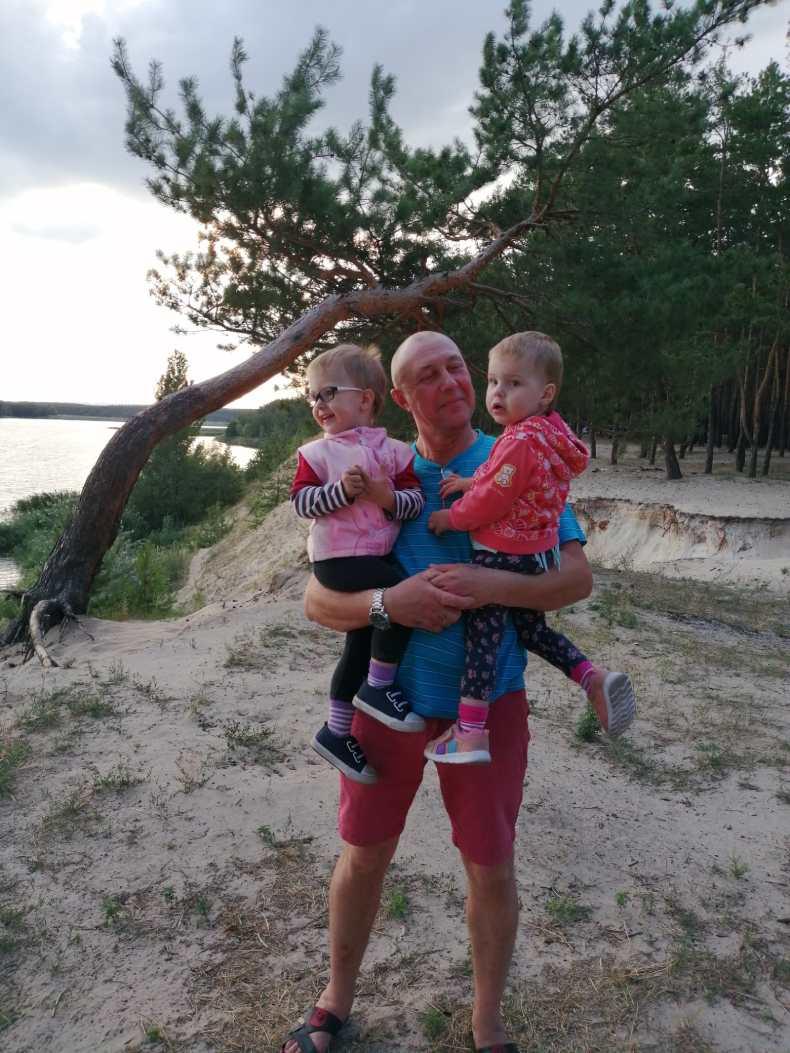 Евгений, муж Натальи, с детьми