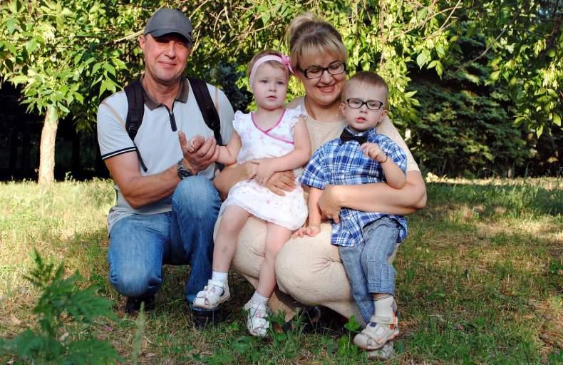 Наталья с семьей