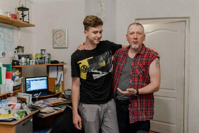 Олександр Карабіненко з сином
