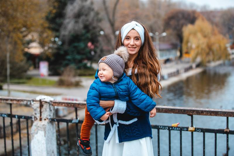 Наталія Чужикова разом із сином