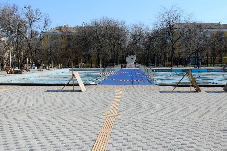 Ремонт фонтана в Сквере профсоюзов