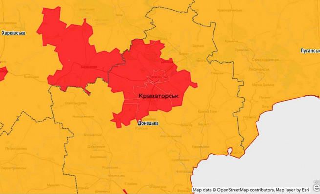 kramatorsk-map