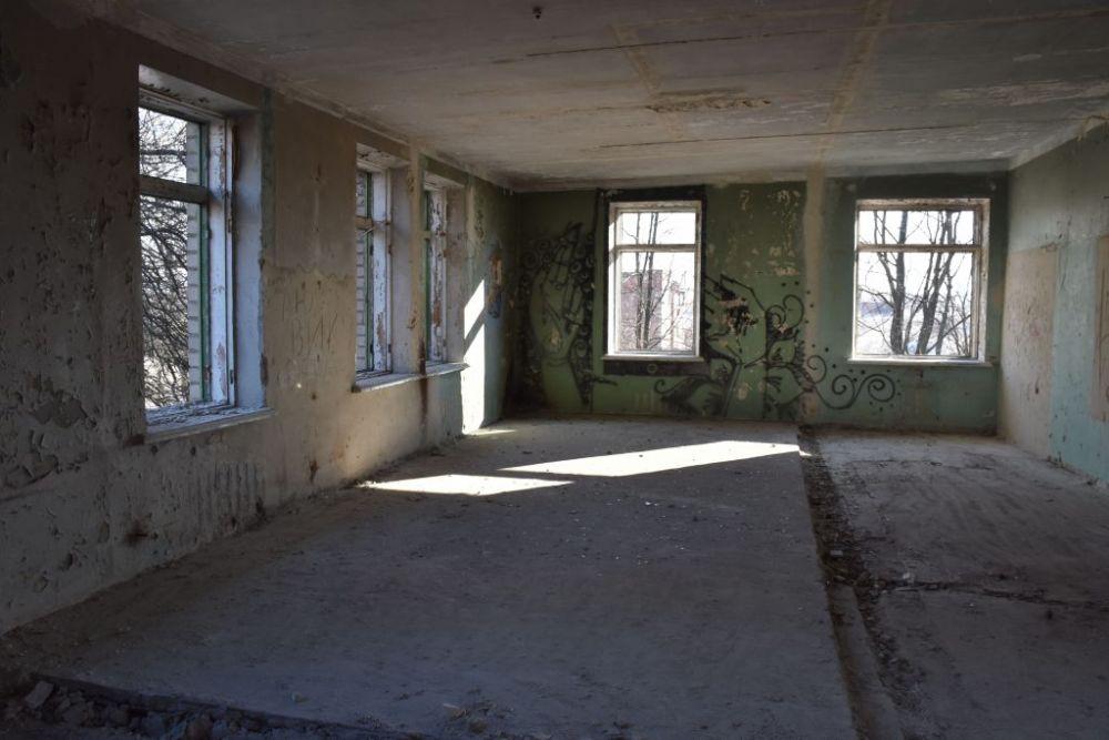Будівля колишнього боксового відділення всередені
