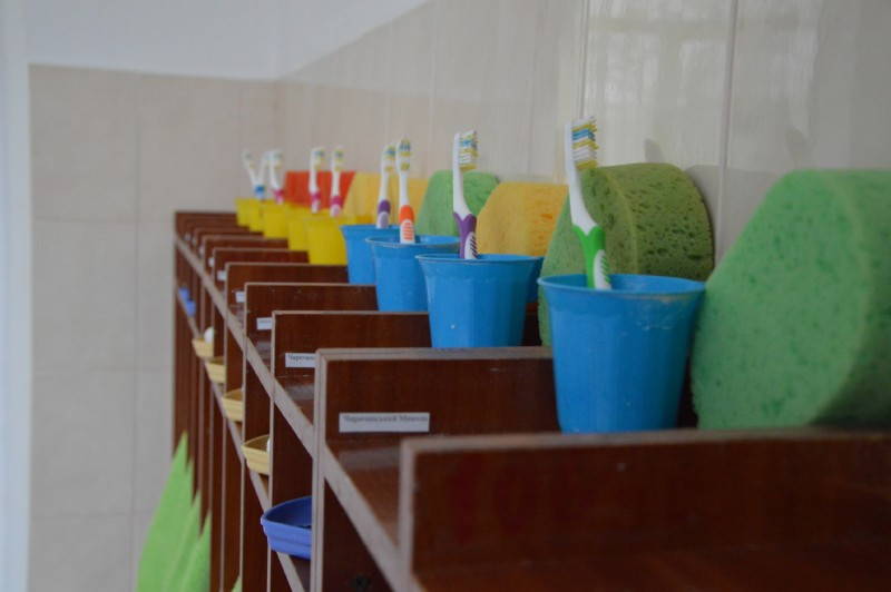 Детей в Центре приучают к правилам личной гигиены